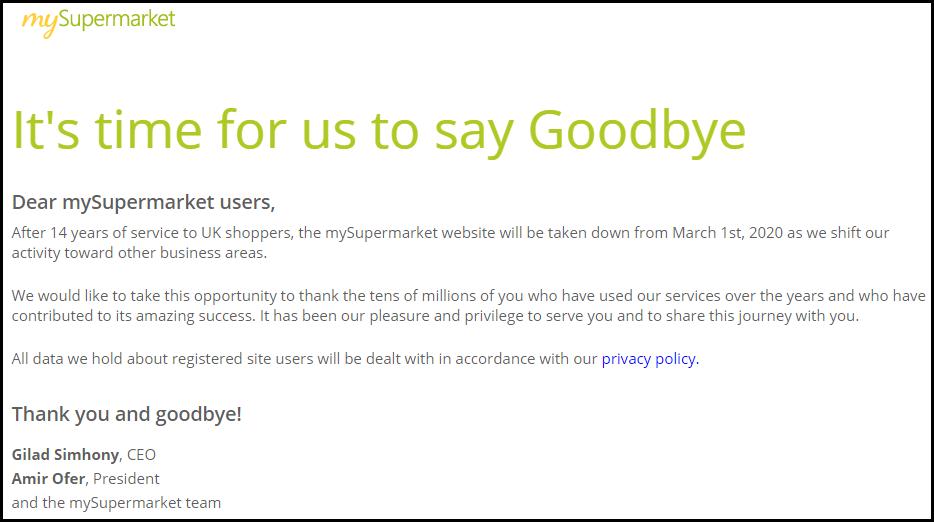 MySupermarket is no more…