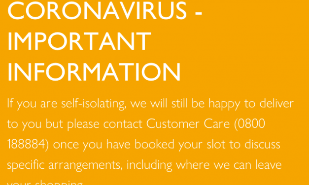 Coronavirus / Covid19 and Waitrose Deliveries